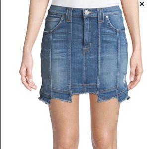 Hudson Weekender Step Hem Denim mini skirt 28